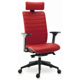 SK-WIMAX-17/18-R Fauteuil direction cuir rouge