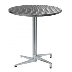 TRA-06R Table terrasse inox pliante