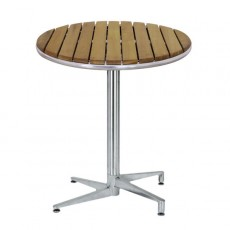 TRA-F06R5 Table terrasse tek pliante