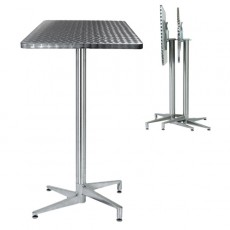 TRA-206C Table terrasse inox pliante