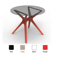 TRL-V2   Table  en verre pied design polypropylène