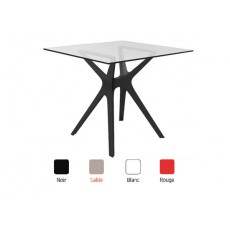 TRL-V1   Table  en verre pied design polypropylène