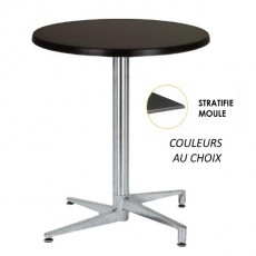 TRA-06RLM Table terrasse plateau stratifié moulé
