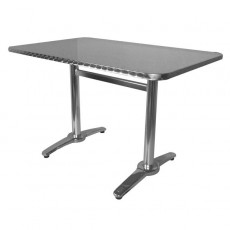 TRA-18C120X70 Table terrasse rectangulaire alu/inox
