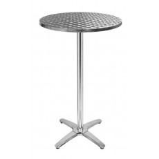 TRA-248R60 Table haute terrasse inox