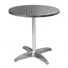 TRA-43R80 Table terrasse alu/inox