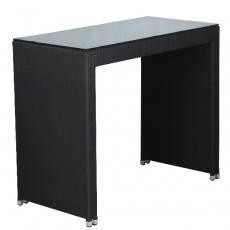 TTV-92-70-MF Table haute 70x70 cm en tressage pvc