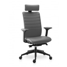 SK-WIMAX-17/18-G Fauteuil direction cuir gris