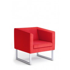 SK-PUNTA-X1-R Fauteuil 1 place tissu rouge