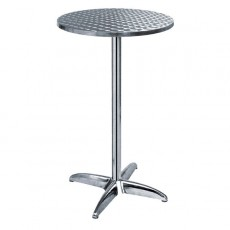 TRA-242RT60 Table haute terrasse alu/inox